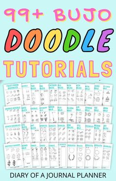 Become a doodle pro with our 40  pages full of clever and creative bullet journal doodle tutorials! #bulletjournaldoodles #doodling #howtodraw #bulletjournalprintables #drawing #doodles