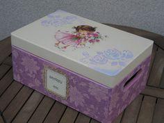 pudełko dla dziecka decoupage