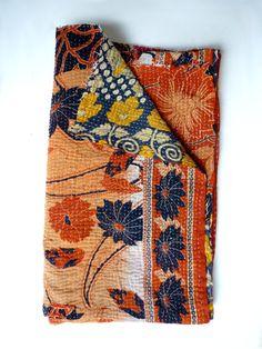 Vintage kantha quilt // kantha quilt // kantha throw blanket on Etsy, $99.04 CAD