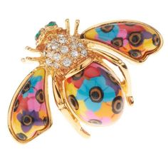 Joan Rivers Blossoming Brights Bee Brooch.