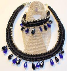 Conjunto seda y cristal blackblue