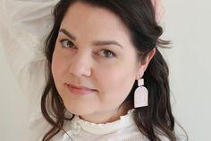 Art deco powder pink earrings Statement modern lightweight | Etsy Pink Earrings, Statement Earrings, Small Art, Powder Pink, Beautiful Gift Boxes, Photo Jewelry, Ear Studs, Body Lotion, Earrings Handmade