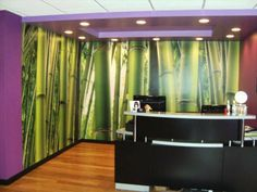 At Murals Your Way, you'll find thousands of images for a custom wall mural or wallpaper that will transform your spa or salon. Add style and flair to your space. Salon Wallpaper, New Lotus, Murals Your Way, Custom Wall Murals, Massage Therapy, Your Space, Salons, Curtains, Salon Ideas