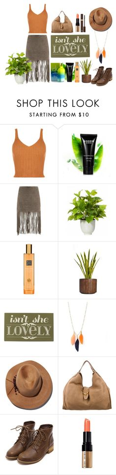 """Khaki Chic"" by nity01 ❤ liked on Polyvore featuring MuuBaa, Rituals, Laura Ashley, Home Decorators Collection, Eugenia Kim, Gucci, Bobbi Brown Cosmetics, Tom Ford, chic and boho"