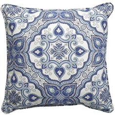 Mediterranean Tile Pillow Would be awesome in green, turquoise and coral Pier One $20