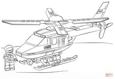 lego police helicopter city coloring pages printable and coloring book to print for free find more coloring pages online for kids and adults of lego police - Lego City Airplane Coloring Pages
