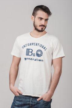 """Ανδρικό T shirt """"Unconventional generation"""" White"""