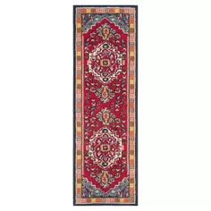Safavieh Monaco Bohemian Medallion Red/ Turquoise Rug - x Runner x Runner - Red/Turquoise) (Polypropylene, Geometric) Turquoise Rug, Turquoise Kitchen, Classic Rugs, Traditional Area Rugs, Boho Designs, Vintage Designs, Abstract Styles, Rug Material, Rug Size