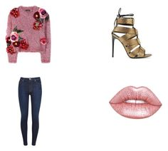 """""""Date night"""" by hendricksl ❤ liked on Polyvore featuring Dolce&Gabbana, 7 For All Mankind, Tom Ford and Lime Crime"""