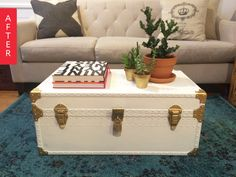 Before & After: Free Trunk Turned Coffee Table | Apartment Therapy