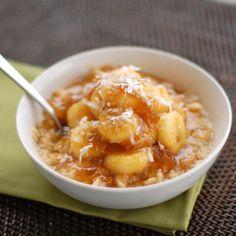 Caramelized Banana and Fig Oatmeal - Pinch of Yum. Full recipe
