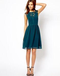 Warehouse | Warehouse Lace Back Soft Dress at ASOS
