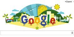Il doodle di Google celebra il mondiale in Brasile - http://www.tecnoandroid.it/doodle-google-celebra-mondiale-in-brasile/
