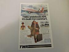 1977 TWA Airlines Original Color Advertisement  VINTAGE AD