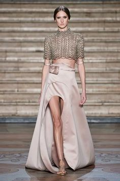 Antonio Grimaldi Spring 2020 Couture Fashion Show - Sponsored - Vogue Live Fashion, Fashion Week, Fashion 2020, Runway Fashion, Boho Fashion, Fashion Dresses, Haute Couture Skirts, Couture Tops, Collection Couture