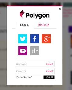 Polygon.com log in pop up