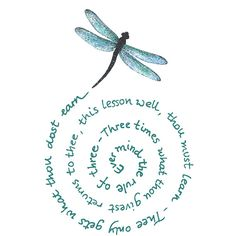 The Witches Rule of three  dragonfly  CLING by cherrypieartstamps, $7.50