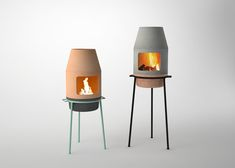 Modeled after a traditional wood-stove, the ethanol stove was developed in collaboration with Eco Smart Inc. so that it can safely be used indoors. But it also has the flexibility to be moved outdoors and loaded with firewood.