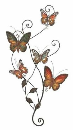 Benzara 13612 Butterfly Garden Metal Wall Decor Sculpture by Benzara. $35.43. Butterfly Garden Metal Wall Decor Sculpture.. Made from cast iron.. This is truly a unique metal wall decor home accent piece.. This hard to find decorative piece features various colorful butterflies sitting on a tree branch.. Colors may vary slightly since this piece is hand-crafted.. Benzaras exclusive and trendy home decor accents nautical decor accessories and furniture products fro...