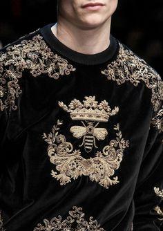 Dolce & Gabbana Fall 2015 Menswear Fashion Show Boy Fashion, Runway Fashion, Fashion Show, Milan Fashion, Fashion Black, Fashion Killa, Lesage, Dolce And Gabbana Man, Inspiration Mode