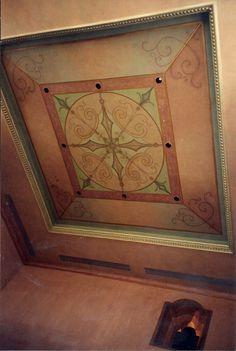 Ceiling decoration painting of decorative artist Karin Linder. Karin Linder decorative painter. Ceiling decoration Page Twenty