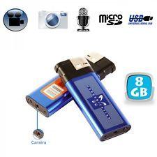 Briquet camera espion mini appareil photo enregistrement sonore vidéo cache 8 Go
