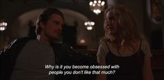 "— Before Sunrise ""Why is it you become obsessed with people you don't like that much? Before Sunrise Quotes, Before Sunrise Trilogy, Before Trilogy, Aesthetic Words, Film Aesthetic, Aesthetic Pictures, Cinema Quotes, Film Quotes, Dramatic Quotes"