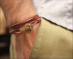 Leather bracelet idea