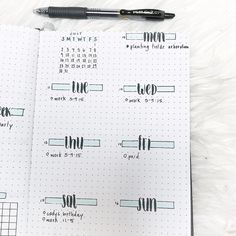 """1,180 Likes, 11 Comments - ❁ (@pridebulletjournal) on Instagram: """"Can't wait to fill up this week Featuring my current pen obsession: pilot G2 07!"""""""