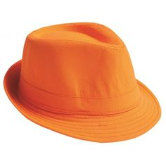 Chapeau Fedora orange adulte