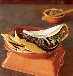Cafe Pasqual's barbacoa tacos