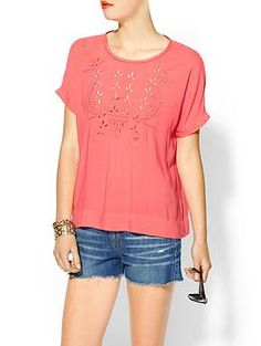 Everly Clothing Eyelet Blouse | Piperlime
