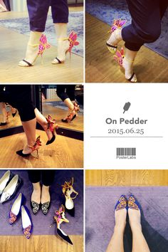 Walk with a butterfly #SophiaWebster #OnPedder #NewArrival #shoes