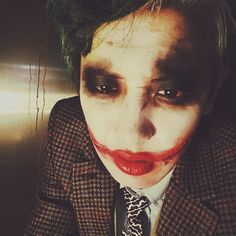 "Chanyeol - ""why so serious? 2 #Halloween #joker"" 
