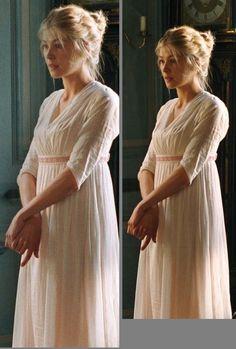 Rosamund Pike as Jane Bennet in Pride and Prejudice (2005). - Regency, c.1800 http://the-garden-of-delights.tumblr.com/post/48057927159