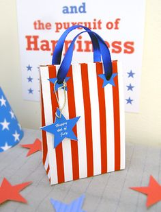 98aae71a0ee5 of July Printable Party Favors of July Party Favor Bags
