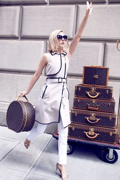 LV luggage. For more luxury news check out: http://luxurysafes.me/blog/
