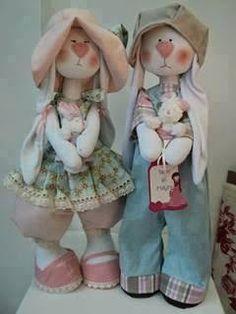 Bunny pattern / This is interesting / Oytoy Sewing Stuffed Animals, Cute Teddy Bears, Doll Quilt, Bear Doll, Sewing Dolls, Felt Toys, Cute Dolls, Fabric Dolls, Doll Face