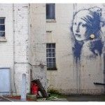 'Girl With a Pierced Eardrum', A New Banksy Street Art Work Based on 'Girl With a Pearl Earring' by Vermeer