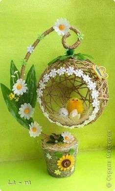 Craft Product March Easter Simulation Design Soon Easter 2 Twine Photo Source by Jute Crafts, Diy Home Crafts, Crafts For Kids, Easter Crafts, Christmas Crafts, Easter Decor, Craft Projects, Projects To Try, Diy Y Manualidades