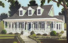 Wrap-Around Farmhouse House Plan