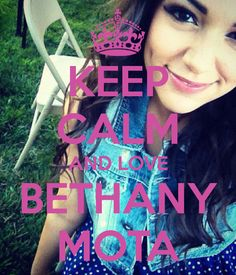 Bethany Mota , she is very talented , inspiring , and beautiful . Go check her out on YouTube ❤️