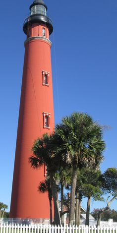 Ponce de Leon Lighthouse at Ponce Inlet, Florida.  Built in 1887 is the tallest lighthouse in Florida.