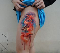 Colorful Fox Tattoo - 50  Examples of Colorful Tattoos  <3 <3
