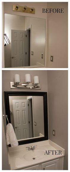 Bathroom Makeover in a Weekend - A few simple projects anyone can do!