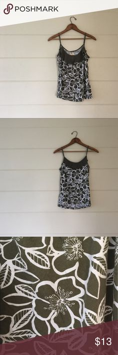 Hollister Floral Tanktop Hollister brand size small green & white floral Tanktop with adjustable straps. Bust is 32 inches length is 22 inches. 80% cotton 20% modal. In excellent condition. Hollister Tops Tank Tops