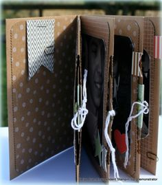 Love this mini-album created from the Hop Hip Hooray card kit from Stampin' Up