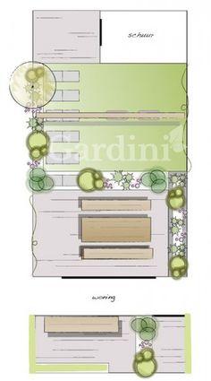 Laurierkers - Pin to Pin Garden Design Plans, Small Garden Design, Bamboo Garden, Terrace Garden, Small Backyard Gardens, Backyard Landscaping, Backyard Designs, Rustic Arbor, Garden Inspiration