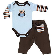 Hudson Baby Long Sleeve Bodysuit and Pant Set Owl 69 Months *** Read more  at the image link.Note:It is affiliate link to Amazon.