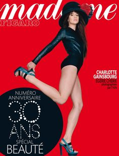 Charlotte Gainsbourg on the cover of Madame Figaro France, November 2010
